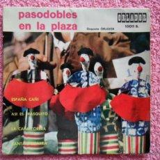 Discos de vinilo: PASODOBLES EN LA PLAZA ESPAÑA CAÑI 1964 ORLADOR 10011 DISCO VINILO. Lote 44506846