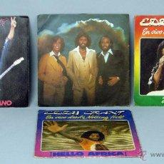 Discos de vinilo: 4 EDDY GRANT TWO MUCH HEAVEN REST YOUR LOVE ON ME HELLO AFRICA 45 RPM VINILO. Lote 44518870