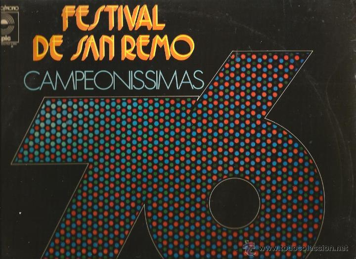 LP FESTIVAL DE SAN REMO 76: PEPPINO DI CAPRI, I PROFETI, OPERA, ROMINA POWER, I CAMALEONTI, ETC (Música - Discos - LP Vinilo - Otros Festivales de la Canción)