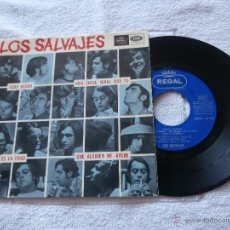 Discos de vinilo: LOS SALVAJES 7´EP TODO NEGRO (PAINT IT BLACK) + 3 TEMAS (1966) BUENA CONDICION. Lote 44547744