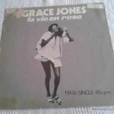 Discos de vinilo: GRACE JONES LA VIE EN ROSE DISCO DE VINILO MAXI SINGLE 1983 ISLAND. Lote 44554522