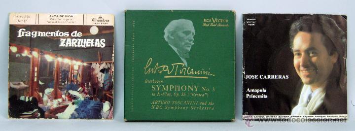 BEETHOVEN SINFONÍA Nº 3 HEROICA TOSCANINI JOSÉ CARRERAS AMAPOLA FRAGMENTOS ZARZUELAS 45 RPM VINILO (Música - Discos - Singles Vinilo - Clásica, Ópera, Zarzuela y Marchas)