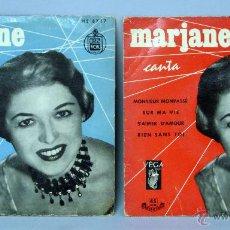 Discos de vinilo: MARJANE CANTA DOMANI MONSIER MONPASSÉ RUE DE LA RUE QUI DANSE JAVA SUR MA VIE 45 RPM VINILO. Lote 44587332