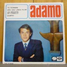 Discos de vinilo: ADAMO - TU NOMBRE - EP LA VOZ DE SU AMO - EPL 14.307 - ESPAÑA 1966 - SI-*2. Lote 44589470