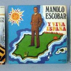 Discos de vinilo: RAPHAEL FUIMOS DOS ALBERTO CORTEZ LA BANDA BORRACHA NAVIDAD NEGRA MANOLO ESCOBAR 45 RPM VINILO. Lote 44590356