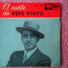 Discos de vinilo: EL CANTE DE PEPE PINTO 1959 LA VOZ DE SU AMO 13311 TRIGO LIMPIO DISCO VINILO. Lote 44595597