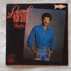 Discos de vinilo: LIONEL RICHIE, HELLO HOLA (RCA 1983) SINGLE PROMOCIONAL ESPAÑA. Lote 156908186