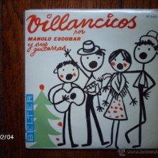 Discos de vinilo: MANOLO ESCOBAR - VILLANCICOS - VAMOS PASTORES + 3. Lote 44623922