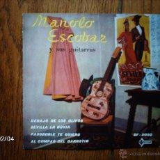 Discos de vinilo: MANOLO ESCOBAR - DEBAJO DE LOS OLIVOS + 3. Lote 44627080