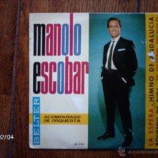 Discos de vinilo: MANOLO ESCOBAR - LA ESPERA + 3. Lote 44627946