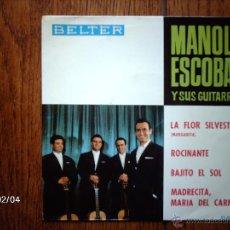 Discos de vinilo: MANOLO ESCOBAR - LA FLOR SILVESTRE + 3. Lote 44628328