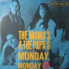 Discos de vinilo: THE MAMA'S & THE PAPA'S. MONDAY, MONDAY. CALIFORNIA DREAMIN RCA 1966. Lote 44629152