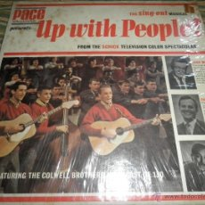 Discos de vinilo: UP WITH PEOPLE! VARIOUS LP - ORIGINAL U.S.A - PACE 1967 MONO CON FUNDA INT. ORIGINAL. Lote 44629374