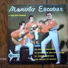 Discos de vinilo: MANOLO ESCOBAR - EL POROMPOMPERO + 3. Lote 44630048