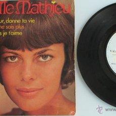 Discos de vinilo: MIREILLE MATHIEU - DONNE TON COEUR / JE NE SAIS PAS + 2 - EP - BARCLAY S/F FRANCE. Lote 44636687