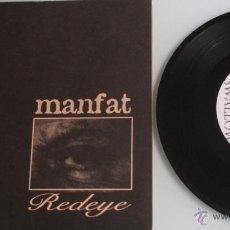 Discos de vinilo: MANFAT - REDEYE - HARD TO FUCKIN SWALLOW - EP 33 RPM - FLAT EARTH 1997 UK SLAVE 1 - RARE. Lote 44637439