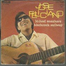 Discos de vinilo: JOSÉ FELICIANO - HI-HEEL SNEAKERS / HITCHCOCK RAILWAY - SINGLE RCA 1968 . Lote 44643138