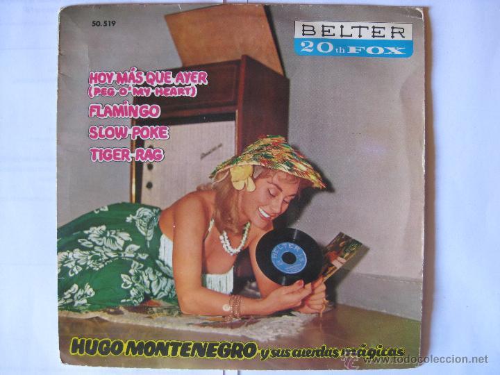 HUGO MONTENEGRO - HOY MAS QUE AYER + 3 MAS - AÑO 1961 (Música - Discos de Vinilo - EPs - Jazz, Jazz-Rock, Blues y R&B)