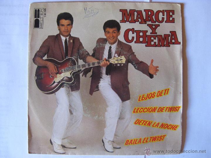MARCE Y CHEMA -LEJOS DE TI + 3 MAS - AÑO 1980 (Música - Discos de Vinilo - EPs - Grupos Españoles de los 70 y 80)