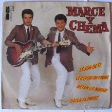 Discos de vinilo: MARCE Y CHEMA -LEJOS DE TI + 3 MAS - AÑO 1980. Lote 44645526