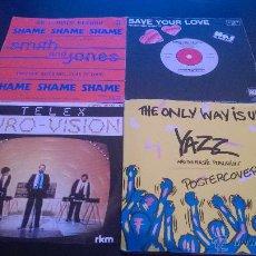 Discos de vinilo: LOTE DE 62 SINGLES DE VINILO - ROCK/POP/DISCO.... Lote 44646924