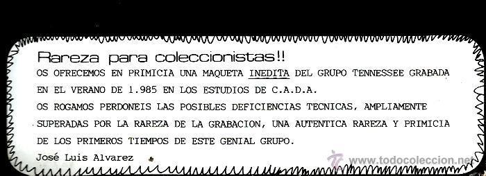 Discos de vinilo: MAXI TENNESSEE : ROCKCOLECCION ( EL FAMOSO TEMA DE LAURENT VOULZY, EN ESPAÑOL) - Foto 3 - 44651025