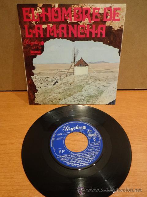 LUIS SAGI-VELA. EL HOMBRE DE LA MANCHA. EP / PÉRGOLA - 1973. CALIDAD LUJO. ****/**** (Música - Discos de Vinilo - EPs - Bandas Sonoras y Actores)