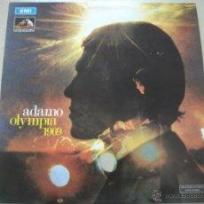Discos de vinilo: LP DE ADAMO, OLYMPIA 69 (1969), LA VOZ DE SU AMO, MUY BUEN ESTADO. Lote 44654645
