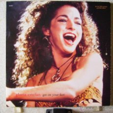 Discos de vinilo: GLORIA ESTEFAN.GET ON YOUR FEET...MAXI & CALENDARIO DE 1990...MUY RARO. Lote 44655917