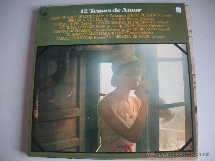 MAGNIFICO LP DE - LOS MEJORES 12 TEMAS DE AMOR - (Música - Discos de Vinilo - Maxi Singles - Orquestas)
