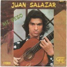 Discos de vinilo: JUAN SALAZAR - MI BESO (INCLUYE HOJA INTERIOR) -RUMBA-. Lote 189517255
