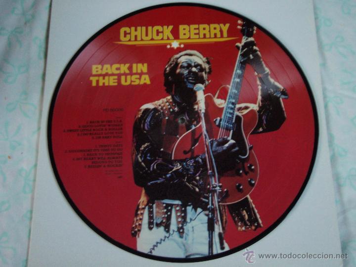 Discos de vinilo: CHUCK BERRY - BACK IN THE USA, DENMARK 1983 TIME WIND - Foto 2 - 44660704