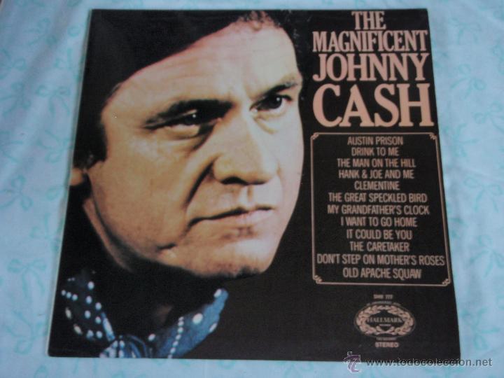 JOHNNY CASH – THE MAGNIFICENT JOHNNY CASH UK HALLMARK RECORDS (Música - Discos - LP Vinilo - Country y Folk)