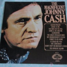 Discos de vinilo: JOHNNY CASH ( THE MAGNIFICENT JOHNNY CASH ) ENGLAND - 1959 LP33 HALLMARK RECORDS. Lote 44660961