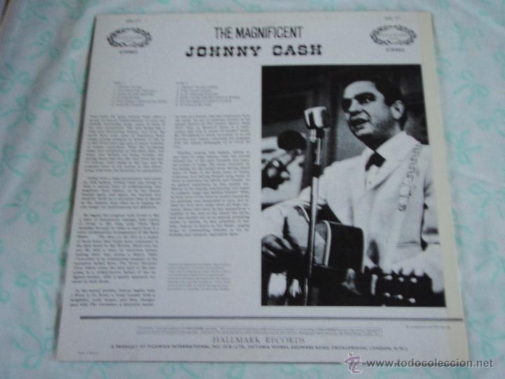 Discos de vinilo: Johnny Cash – The Magnificent Johnny Cash UK Hallmark Records - Foto 2 - 44660961