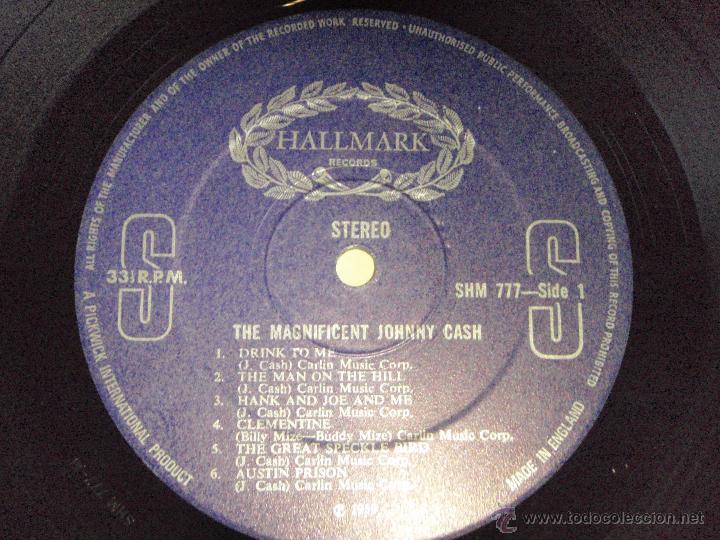 Discos de vinilo: Johnny Cash – The Magnificent Johnny Cash UK Hallmark Records - Foto 5 - 44660961