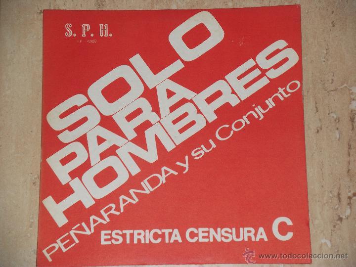 PEÑARANDA Y SU CONJUNTO-SOLO PARA HOMBRES-LATIN GRUPO COLOMBIA-PORTADA CENSURADA SUPER RARO!!! (Música - Discos - LP Vinilo - Orquestas)