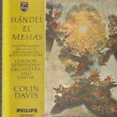 Discos de vinilo: HANDEL. EL MESÍAS D-ESTUCHE-216. Lote 44674117
