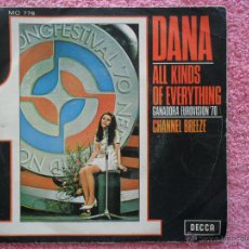 Discos de vinilo: DANA 1970 DECCA 776 ALL KINDS OF EVERYTHING FESTIVAL EUROVISIÓNDISCO VINILO. Lote 44674332