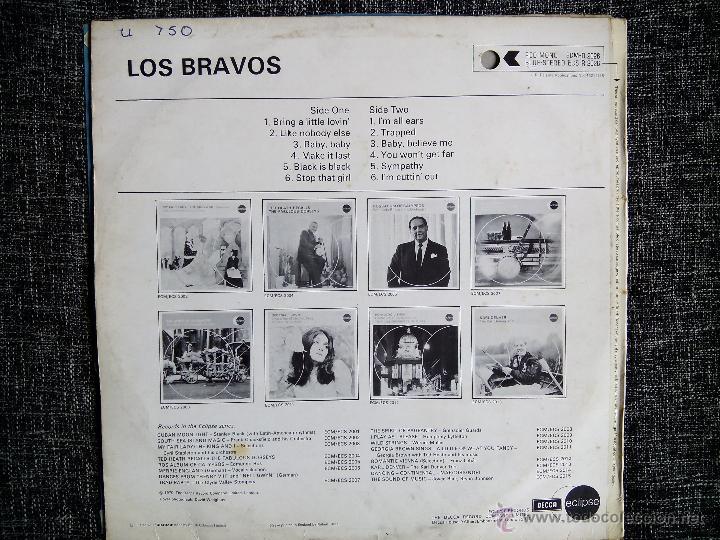 Discos de vinilo: LOS BRAVOS. LP DECCA ECLIPSE ECS-R 2026. ENGLAND 1970. MIKE KENNEDY. COMPILATION. - Foto 3 - 44675014