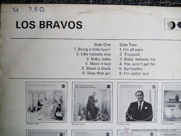 Discos de vinilo: LOS BRAVOS. LP DECCA ECLIPSE ECS-R 2026. ENGLAND 1970. MIKE KENNEDY. COMPILATION. - Foto 4 - 44675014