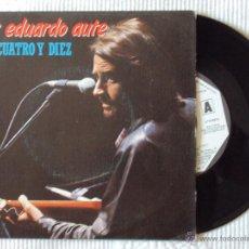 Discos de vinilo: LUIS EDUARDO AUTE, LAS CUATRO Y DIEZ + EL ASCENSOR (MOVIEPLAY 1983) SINGLE PROMOCIONAL. Lote 44682763