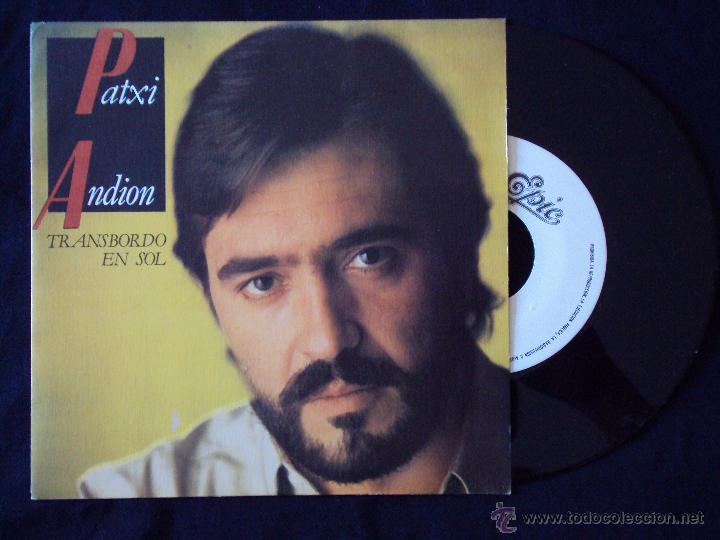 PATXI ANDION, TRANSBORDO EN SOL (CBS 1983) SINGLE PROMOCIONAL 1 SOLA CARA - LUCIO DALLA (Música - Discos - Singles Vinilo - Cantautores Españoles)