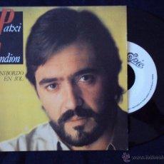 Discos de vinilo: PATXI ANDION, TRANSBORDO EN SOL (CBS 1983) SINGLE PROMOCIONAL 1 SOLA CARA - LUCIO DALLA. Lote 44683018