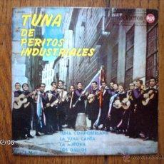 Discos de vinilo: TUNA DE PERITOS INDUSTRIALESDE MADRID - TUNA COMPOSTELANA + 3. Lote 44688235