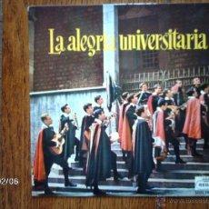 Discos de vinilo: TUNA DE PERITOS INDUSTRIALES DE BARCELONA - LA ALEGRÍA UNIVERSITARIA - CINCO LETRAS NADA MÁS +3. Lote 44688282