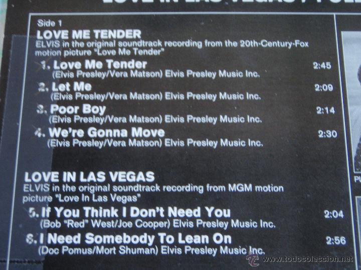 Discos de vinilo: ELVIS PRESLEY - LOVE ME TENDER / LOVE IN LAS VEGAS / FOLLOW THAT DREAM, GERMANY 1979 LP RCA - Foto 3 - 44691571