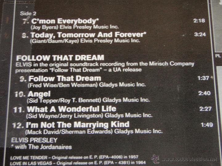 Discos de vinilo: ELVIS PRESLEY - LOVE ME TENDER / LOVE IN LAS VEGAS / FOLLOW THAT DREAM, GERMANY 1979 LP RCA - Foto 4 - 44691571