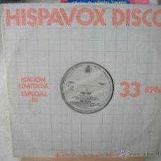 Discos de vinilo: DISCO PROMOCIONAL HISPAVOX, 4 TEMAS (1980) PEDRO MARIN, RADIO FUTURA - ENAMORADO DE LA MODA JUVENIL. Lote 44701093