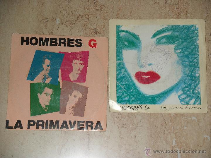 HOMBRES G- LOTE DOS SINGLES PROMOCIONALES (Música - Discos - Singles Vinilo - Grupos Españoles de los 70 y 80)